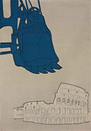 Renato Mambor, Ruspa e Colosseo, 1965