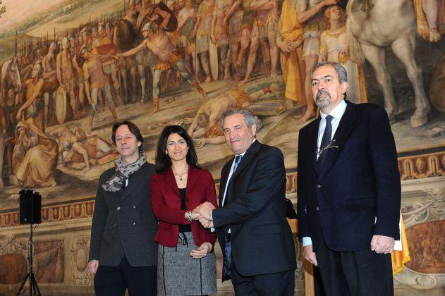 Restauro Sala Orazi e Curiazi, Musei Capitolini. Conferenza stampa con la sindaca Virginia Raggi. Ph. Sovrintendenza Capitolina ai Beni Culturali
