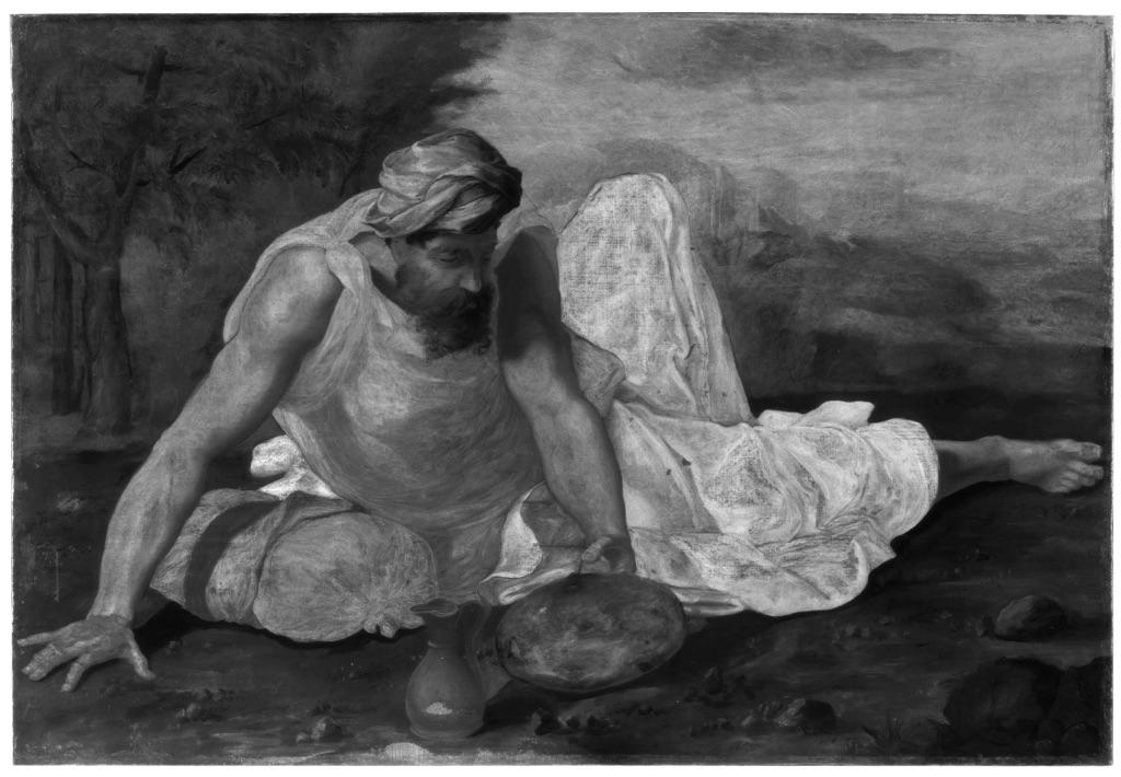 Riflettografia di Elia nel deserto di Daniele da Volterra