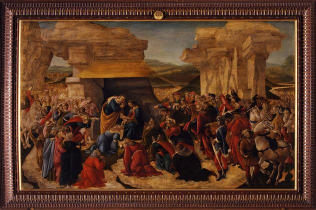 Sandro Botticelli, Firenze, Galleria degli Uffizi, Adorazione dei Magi