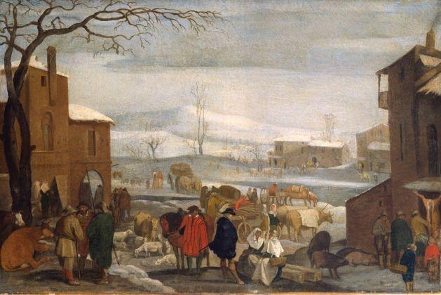 Sinibaldo Scorza, Paesaggio invernale con figure