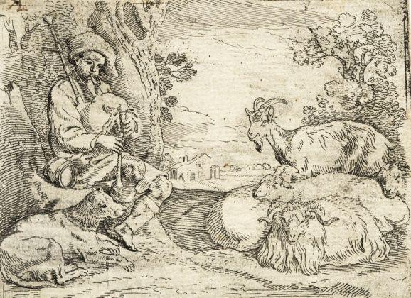 Sinibaldo Scorza, Pastore che suona la cornamusa al suo gregge