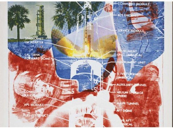 Robert Rauschenberg, Sky Garden, 1969 (lithograph on canvas)