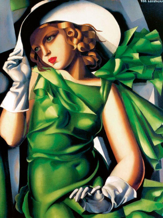 Tamara de Łempicka, Ragazza in verde, 1932 ca