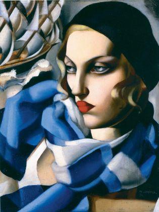 Tamara de Lempicka, La sciarpa blu, 1930, collezione privata