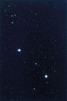 Thomas Ruff, Sterne 1h 55m - 30º, 1989, Chromogenic print, 257.8 x 186 cm