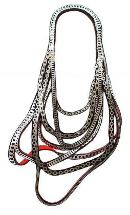 Afra Bianchin Scarpa, Collana Hokusai, 2003, catena, argento
