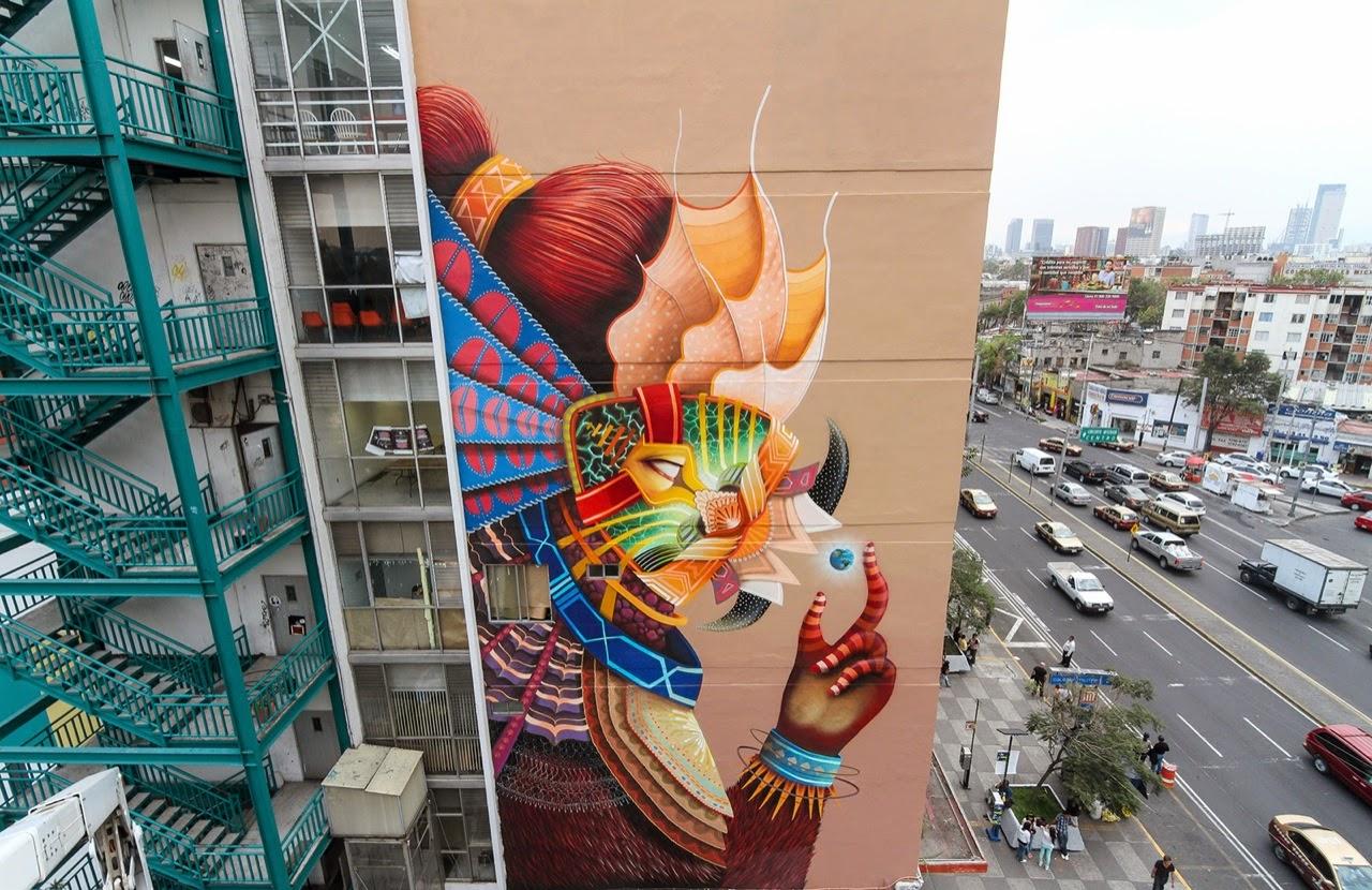 Un murale di Curiot a Città del Messico