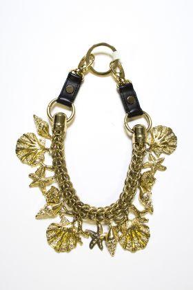 Versace, collezione PE 1992, collana, metallo dorato, pelle, Archivio Associazione Culturale Anna Piaggi