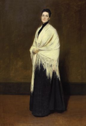 William Merritt Chase, Portrait of Mrs. C. (Lady with a White Shawl), 1893, © Pennsylvania Academy of the Fine Arts