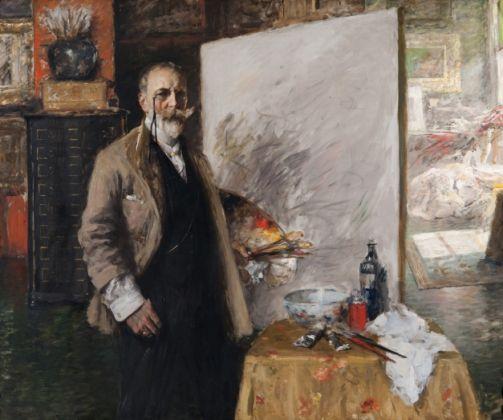 William Merritt Chase, Self-Portrait in the 4th Avenue Studio, 1915-16, © Richmond Art Museum