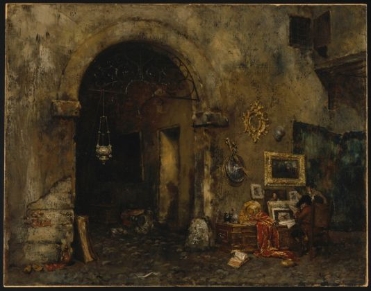 William Merritt Chase, The Antiquary Shop, 1879, © Brooklyn Museum