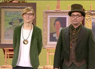 Paco Cao e Cristiana Collu in tv