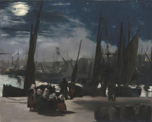 Édouard Manet, Chiaro di luna sul porto di Boulogne, 1869, olio su tela, 81,5 x 101 cm, Parigi, Musée d'Orsay © René-Gabriel Ojéda – RMN-Réunion des Musées Nationaux – distr. Alinari