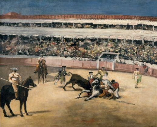 Édouard Manet, Combattimento di tori, 1865-1866, olio su tela, 90 x 111 cm, Parigi, Musée d'Orsay © René-Gabriel Ojéda – RMN-Réunion des Musées Nationaux – distr. Alinari
