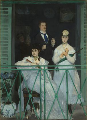 Édouard Manet, Il balcone, 1868-1869, olio su tela, 170 x 125 cm, Parigi, Musée d'Orsay © René-Gabriel Ojéda – RMN-Réunion des Musées Nationaux – distr. Alinari