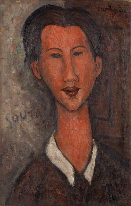Amedeo Modigliani, Ritratto di Chaim Soutine, 1916. Olio su tela, 55,5 x 35 cm. Collezione privata