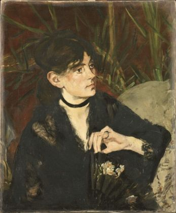 Édouard Manet Berthe Morisot con il ventaglio, 1874 Olio su tela, 61 x 50,5 cm Parigi, Musée d'Orsay © René-Gabriel Ojéda / RMN-Réunion des Musées Nationaux/ distr. Alinari