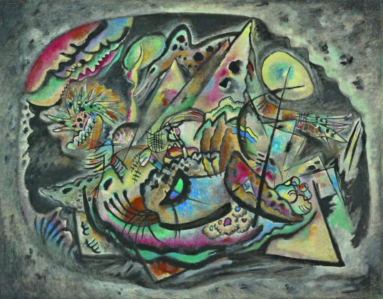 Vasilij Kandinskij Composizione 217 (Ovale grigio), 1917 Olio su tela, cm 98 x 133 Ekaterinburg, Museo di Belle Arti © Ekaterinburg Museum of Fine Arts, Ekaterinburg, Russia