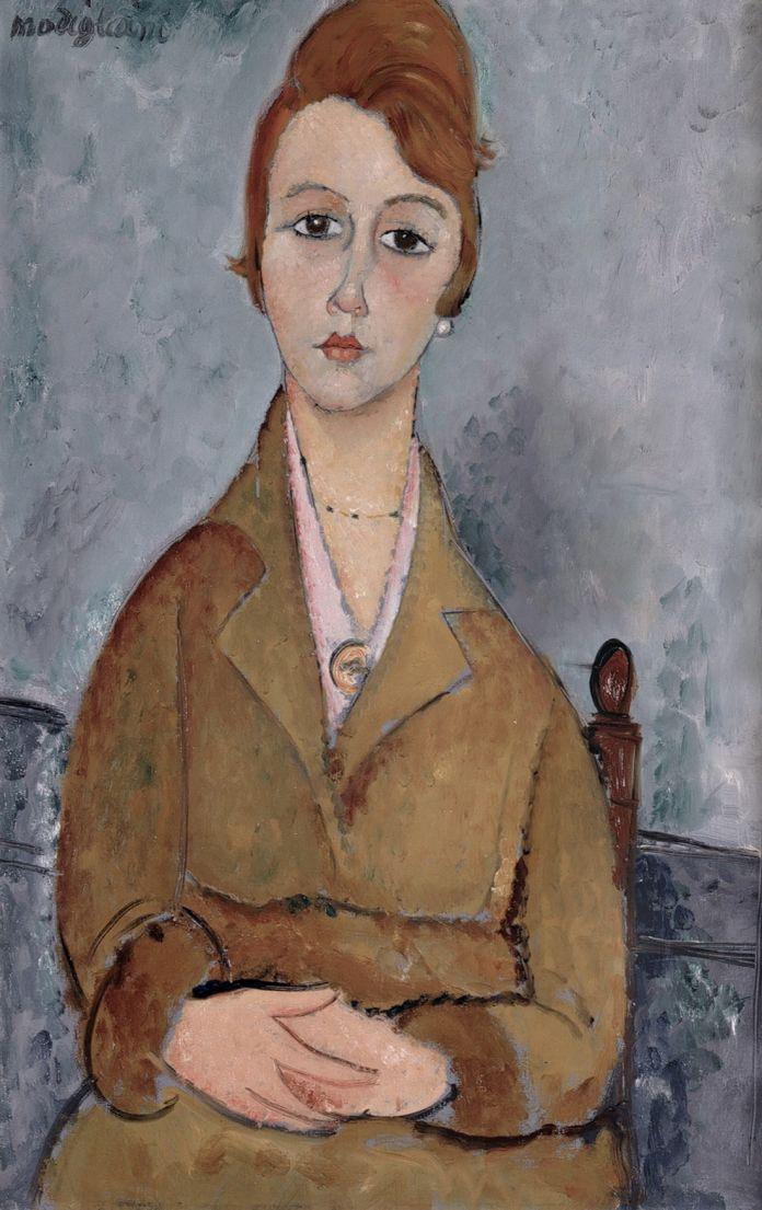 Amedeo Modigliani, La giovane Lolotte, 1918. Olio su tela, 90 x 58 cm. Collezione privata