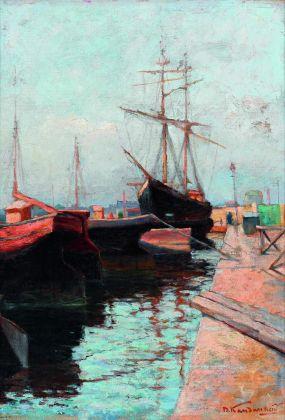 Vasilij Kandinskij, Porto di Odessa, 1898. Olio su tela, cm 65 x 46 Mosca, Galleria Tret'jakov © State Tretyakov Gallery, Moscow, Russia