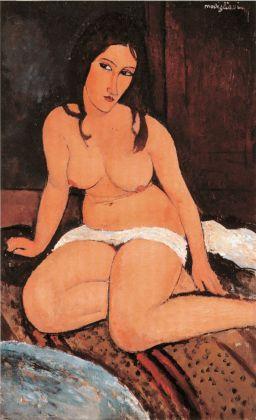 Amedeo Modigliani, Nudo accovacciato, 1917. Olio su tela, 114 x 74 cm. Anversa, Koninklijk Museum voor Schone Kunsten KMSKA © Lukas – Art in Flanders vzw, foto Hugo Maertens