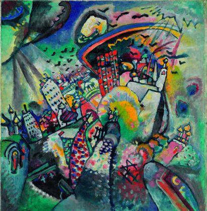 Vasilij Kandinskij, Mosca. Piazza Rossa, 1916. Olio su cartoncino, cm 51,5 x 49,5 Mosca, Galleria Tret'jakov © State Tretyakov Gallery, Moscow, Russia