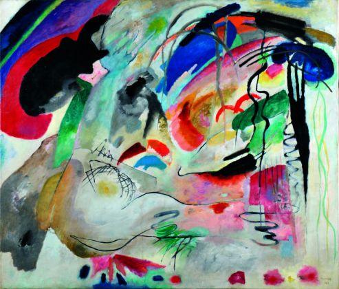 Vasilij Kandinskij, Improvvisazione 34 (Oriente II), 1913. Olio su tela, cm 120 x 140 Kazan', Museo di Belle Arti © State Museum of Fine Arts of the Republic of Tatarstan, Kazan, Russia