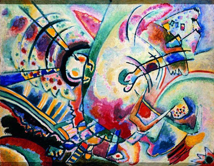 Vasilij Kandinskij Non-obiettivo (Le naïves), 1910 Olio su tela, cm 50 × 66 Krasnodar, Museo Regionale d'Arte © Krasnodar Regional Arts Museum after F. A. Kovalenko, Krasnodar, Russia