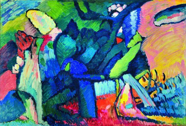 Vasilij Kandinskij Improvvisazione 4, 1909 Olio su tela, cm 107 x 159 Nižnij Novgorod, Museo Statale d'Arte © Nizhny Novgorod State Arts Museum, Nizhny Novgorod, Russia