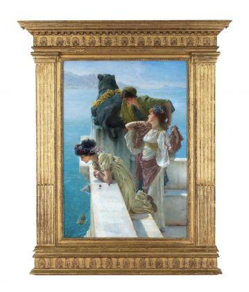 Lawrence Alma-Tadema, Coign of Vantage, 1895 (Öl auf Leinwand, 64 x 44,5 cm), Collection of Ann and Gordon Getty © Collection of Ann and Gordon Getty