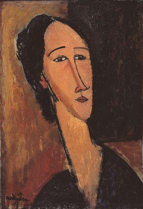 Amedeo Modigliani, Testa di Hanka Sborowska, 1917. Olio su tela, 54 x 37,3 x 8 cm. Collezione privata