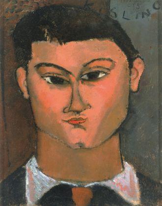Amedeo Modigliani, Ritratto di Moisé Kisling, 1915. Olio su tela, 37 x 29 cm. Milano, Pinacoteca di Brera © Laboratorio fotoradiografico della Pinacoteca di Brera