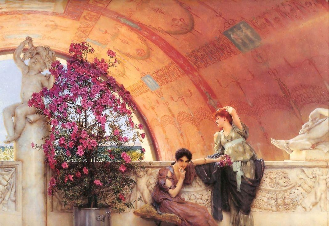 Lawrence Alma-Tadema, Unconscious Rivals, 1893 (olio su legno, 45,1 x 62,9 cm), Bristol Museums & Art Gallery ©Bristol Culture, Bristol Museum and Art Gallery