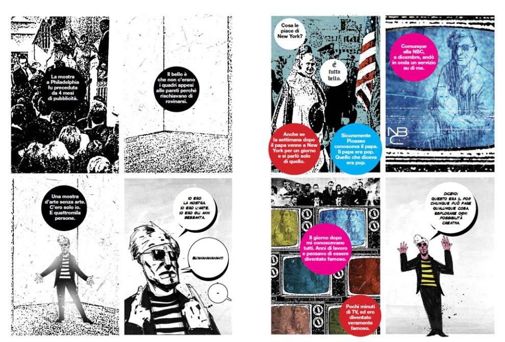 Adriano Barone e Officina Infernale, Warhol. L'intervista (BeccoGiallo, 2017) - tavole