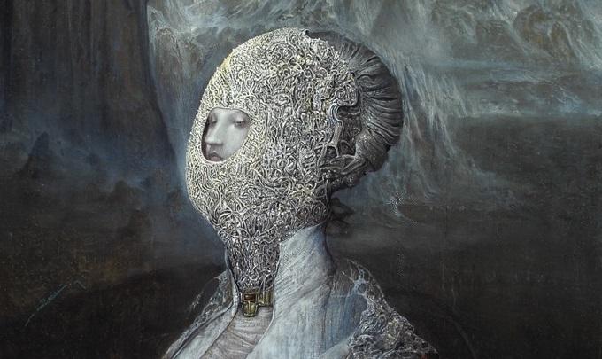 Agostino Arrivabene, Coniunctio (diptico), 2016-17, olio su legno, cm 60 x 50 (particolare)