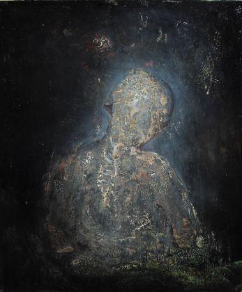 Agostino Arrivabene, Profumo dello spirito, 2017 (dittico), olio su legno, cm 60x50