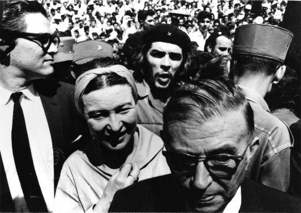 Alberto Korda, Sartre, Simone de Beauvoir e Che Guevara all'Avana, 1960