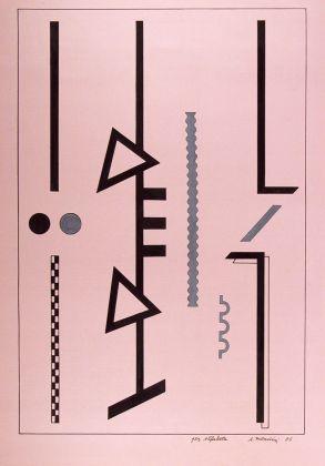 Alessandro Mendini, Senza titolo, 1986, china e tempera su carta colorata, 418 x 296 mm, Collezione Galleria Civica di Modena