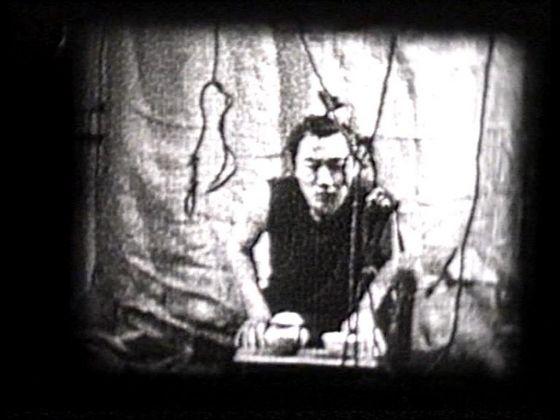 Alexander Ugay, Tea ceremony, 2001, still da video, Courtesy Laura Bulian Gallery