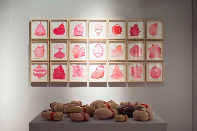 Anne-Clémence de Grolée, Strange fruits, 2008 (in alto) e Le segrete, 2016. Photo Francesca Renda