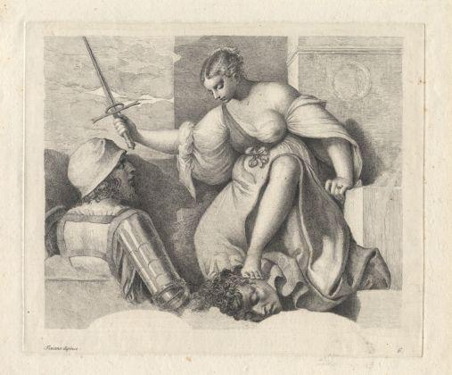 Anton Maria Zanetti, La Giustizia o Giuditta (da Tiziano Vecellio), 1760, acquaforte e bulino. Museo Correr, Gabinetto dei disegni e delle stampe. Fondazione Musei Civici di Venezia