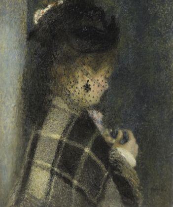 Auguste Renoir, Giovane donna con veletta, 1875 circa, olio su tela, 61,3 x 50,8 cm, Parigi, Musée d'Orsay © René-Gabriel Ojéda – RMN-Réunion des Musées Nationaux – distr. Alinari