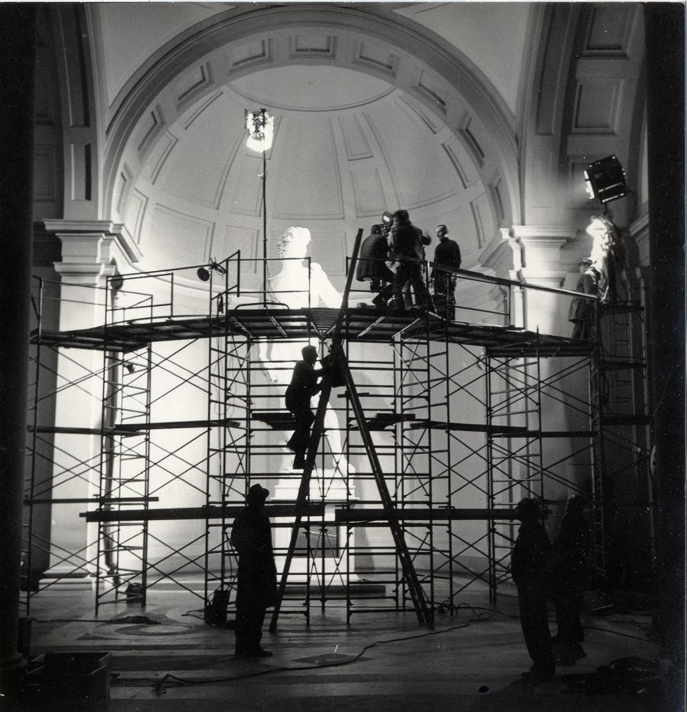 Backstage del critofilm realizzato da Carlo Ludovico Ragghianti dal titolo Michelangelo (1964)