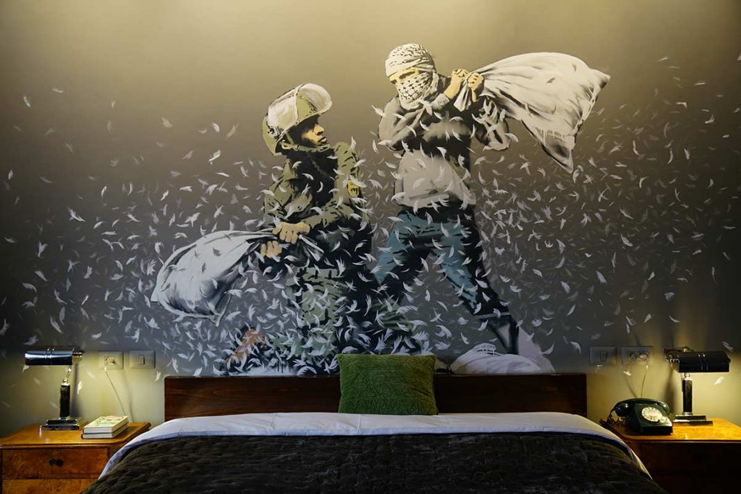 Banksy, Walled Off Hotel, 2017