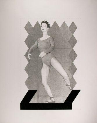 Beppe Devalle, Esercizio, dalla serie Preliminary Exercise, collages e fotocollages, 1985, china, grafite e collage, 605 x 503 mm, Collezione Galleria Civica di Modena