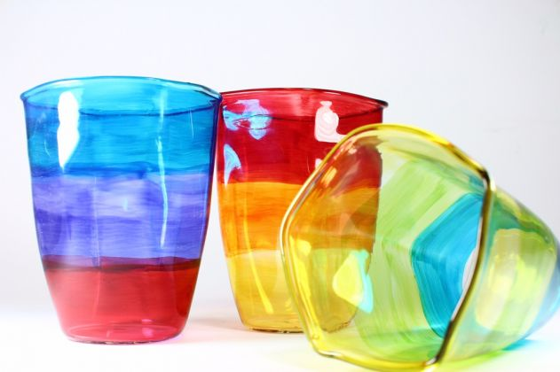 Bicchieri in pirex di Yellow Design Studio, Home Design Cluster, Cairo