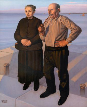 Cagnaccio di San Pietro, La partenza, 1936. Courtesy Galleria Gomiero, Milano-Padova