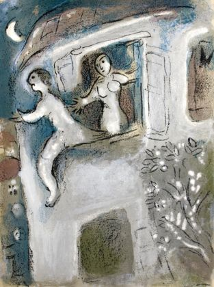 Chagall, David sauvé par Michal