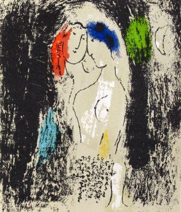 Chagall, Lea amoureux en gris